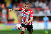 Exeter City's Jayden Stockley during the Sky Bet League 2 match between Exeter City and Morecambe at St James' Park, Exeter, England on 30 April 2016. Photo by Graham Hunt.