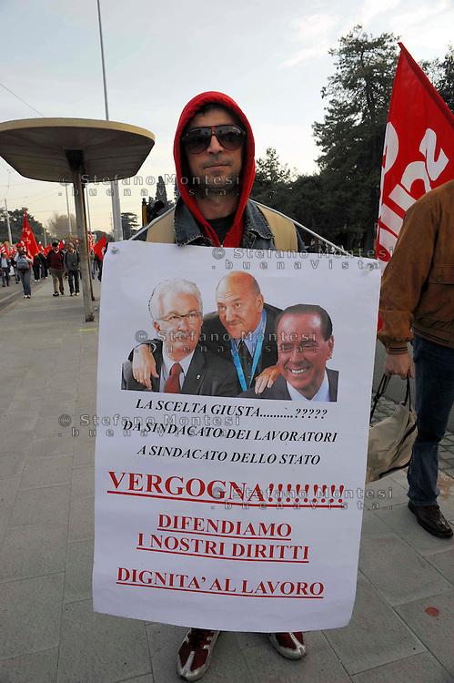 Roma 4 Aprile 2009.Manifestazione nazionale della Cgil contro la crisi e per il lavoro.National demonstration of the Cgil against the economic crisis and for the job.
