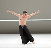 Dutch National Ballet <br /> Hans Van Manen - Master of Dance<br /> Grosse Fuge<br /> rehearsal / photocall<br /> 12th May 2011<br /> at Sadler's Wells. London, Great Britain <br /> <br /> Alexander Zhembrovskyy<br /> <br /> Photograph by Elliott Franks