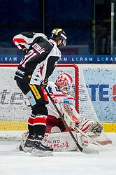 19.12.2017, Ice Rink, Znojmo, CZE, EBEL, HC Orli Znojmo vs EC KAC, 30. Runde, im Bild v.l. Jakub Stehlik (HC Orli Znojmo) Tomas Duba (EC KAC) // during the Erste Bank Icehockey League 30th round match between HC Orli Znojmo and EC KAC at the Ice Rink in Znojmo, Czech Republic on 2017/12/19. EXPA Pictures © 2017, PhotoCredit: EXPA/ Rostislav Pfeffer