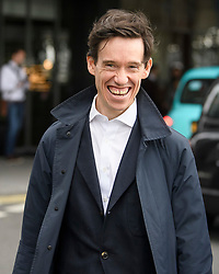 © Licensed to London News Pictures. 15/06/2019. London, UK. Leadership candidate RORY STEWART is seen leaving a leadership hustings in Westminster, central London. Former Foreign Secretary and figurehead of the leave campaign, Boris Johnson has cemented his position as favourite to become the next Prime Minster after winning a landslide in the first round of the conservative party's leadership race. Photo credit: Ben Cawthra/LNP