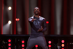 May 7, 2018 - Lisbon, Portugal - Singer Cesar Sampson of Austria performs during the Dress Rehearsal of the first Semi-Final of the 2018 Eurovision Song Contest, at the Altice Arena in Lisbon, Portugal on May 7, 2018. (Credit Image: © Pedro Fiuza/NurPhoto via ZUMA Press)
