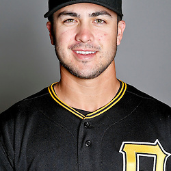 February 17, 2013; Bradenton, FL, USA;  Pittsburgh Pirates shortstop Chase d'Arnaud (15) poses for photo day at Pirate City.  Mandatory Credit: Derick E. Hingle-USA TODAY Sports
