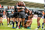 Hull FC stand off Albert Kelly (6) celebrates a try during the Challenge Cup 2017 semi final match between Hull RFC and Leeds Rhinos at the Keepmoat Stadium, Doncaster, England on 29 July 2017. Photo by Simon Davies.