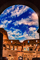 &quot;Dramatic clouds gather through the Arch of the Colosseum&quot;...<br />