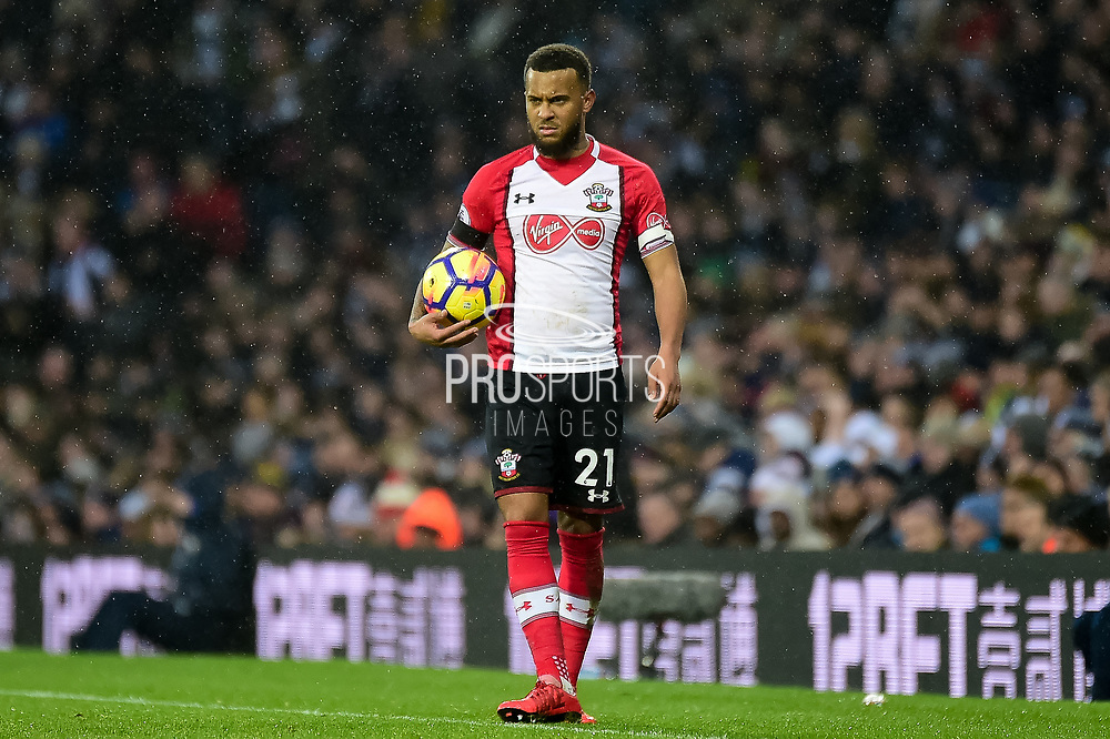 Southampton defender Ryan Bertand (21) during the Premier League match between West Bromwich Albion and Southampton at The Hawthorns, West Bromwich, England on 3 February 2018. Picture by Dennis Goodwin.
