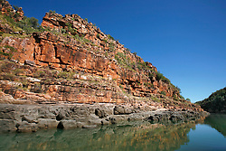 Stunning red sandstone cliffs line the Sale River.