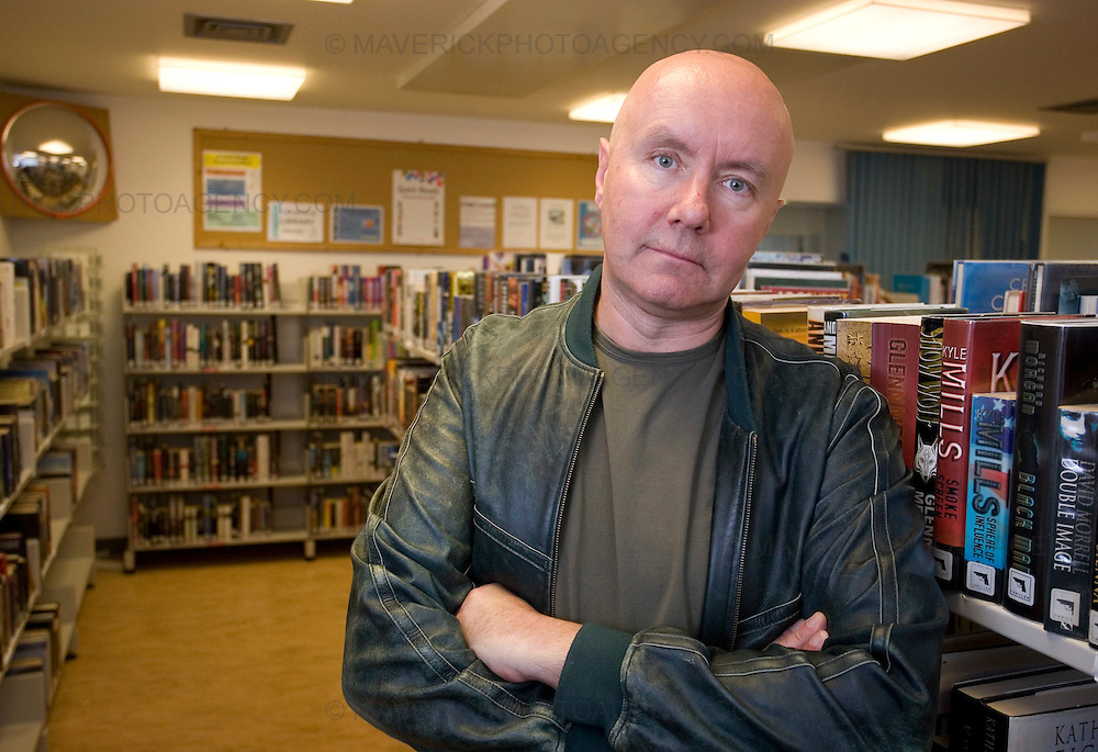 Author Irvine Welsh visits Saughton Prison in Edinburgh to talk about his new book Crime to members of the prison book club.
