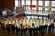 Berlin, GERMANY.  [DOW]   [Date]  General view of the  [2. Lauf der Deutschen Indoor Rowing Serie 2012/2013.  2nd leg of the German Indoor Rowing Series 2012/2013 at the  Cupola Hall, [Haus des Deutschen Sport,]  Berlin Sport House. at the Kuppelsaal Halle, Olympiagelände, Berlin Olympic Park, a venue used in the                       11th Olympiad 1936, [Mandatory Credit: Peter Spurrier/Intersport Images]