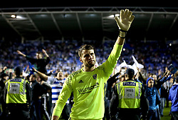 Marcus Bettinelli of Fulham looks dejected after his side lose in the playoff semi-final to Reading - Mandatory by-line: Robbie Stephenson/JMP - 16/05/2017 - FOOTBALL - Madejski Stadium - Reading, England - Reading v Fulham - Sky Bet Championship Play-off Semi-Final 2nd Leg