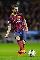 bBarcelona Midfielder Cesc Fabregas (ESP) in action - Photo mandatory by-line: Rogan Thomson/JMP - Tel: 07966 386802 - 18/02/2014 - SPORT - FOOTBALL - Etihad Stadium, Manchester - Manchester City v Barcelona - UEFA Champions League, Round of 16, First leg.