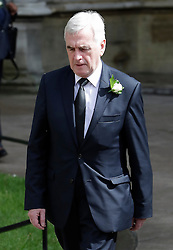 © Licensed to London News Pictures. 20/06/2016. London, UK. Shadow chancellor JOHN MCDONNELL MP arrives at St Margaret's Church, Westminster Abbey to take part in a Service of Prayer and Remembrance to commemorate Jo Cox MP, who was killed in her constituency on June 16, 2016. Photo credit: Peter Macdiarmid/LNP