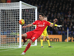 Dejan Lovren of Liverpool in action - Mandatory byline: Jack Phillips/JMP - 02/02/2016 - FOOTBALL - King Power Stadium - Leicester, England - Leicester City v Liverpool - Barclays Premier League