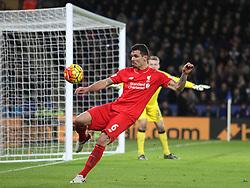 Dejan Lovren of Liverpool in action - Mandatory byline: Jack Phillips/JMP - 02/02/2016 - FOOTBALL - King Power Stadium - Leicester, England - Leicester City v Liverpool - Barclays Premier League