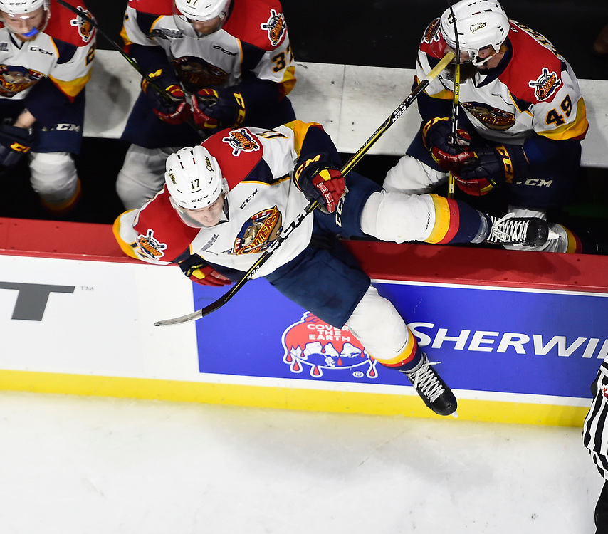 Taylor Raddysh of the Erie Otters in Game 4 of the 2017 MasterCard Memorial Cup against the Saint John Sea Dogs on Monday May 22, 2017 at the WFCU Centre in Windsor, ON. Photo by Aaron Bell/CHL Images