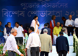 October 4, 2017 - Kolkata, West Bengal, India - A grand carnival of more than 60 Durga Puja committees  has been organised today (3rd October 2017) on Red Road. This Grand carnival, initiated by Chief Minister Mamata Banerjee last year. (Credit Image: © Suvrajit Dutta/Pacific Press via ZUMA Wire)