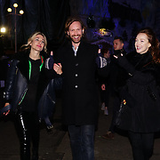 London, England, UK. 16th November 2017. Olivia Cox (L) and guests attend the VIP launch of Hyde Park Winter Wonderland 2017 for a preview. tomorrow is opening for the public