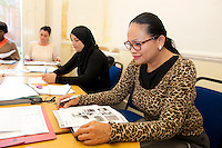 Students at the ESOL course