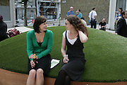 Joy Gilmour and Laura Esslemont,  Convocation.- by Sparks. ( A collective of artists and designers ). Curated by the Contemporary Art Society. Economist Plaza. London. 19 July 2007. -DO NOT ARCHIVE-© Copyright Photograph by Dafydd Jones. 248 Clapham Rd. London SW9 0PZ. Tel 0207 820 0771. www.dafjones.com.