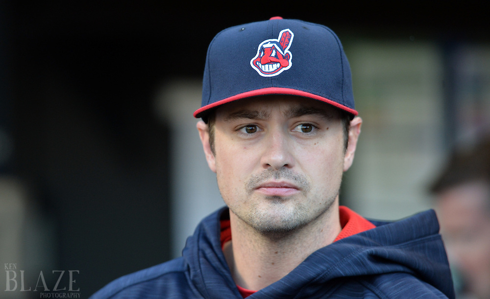 Aug 1, 2016; Cleveland, OH, USA; Cleveland Indians relief pitcher Andrew Miller (24) before the game between the Cleveland Indians and the Minnesota Twins at Progressive Field. Mandatory Credit: Ken Blaze-USA TODAY Sports