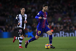January 7, 2018 - Barcelona, Catalonia, Spain - January 7, 2017 - Camp Nou, Barcelona, Spain - LaLiga Santander- FC Barcelona v Levante UD; Andre Gomes of FC Barcelona controls the ball during the FC Barcelona attack. (Credit Image: © Eric Alonso via ZUMA Wire)