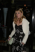 Emilia Fox, 'Pret-a-Portea'M.A.C. launches High Tea collection with British fashion designers. Berkeley Hotel. 17 January 2004. ONE TIME USE ONLY - DO NOT ARCHIVE  © Copyright Photograph by Dafydd Jones 66 Stockwell Park Rd. London SW9 0DA Tel 020 7733 0108 www.dafjones.com