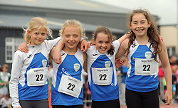 Claremorris Girls U12 Relay, Cassie Griffiths-Blitger, Nina Wallace, Deirdre Ward Sarah McDonnell. Pic Conor McKeown