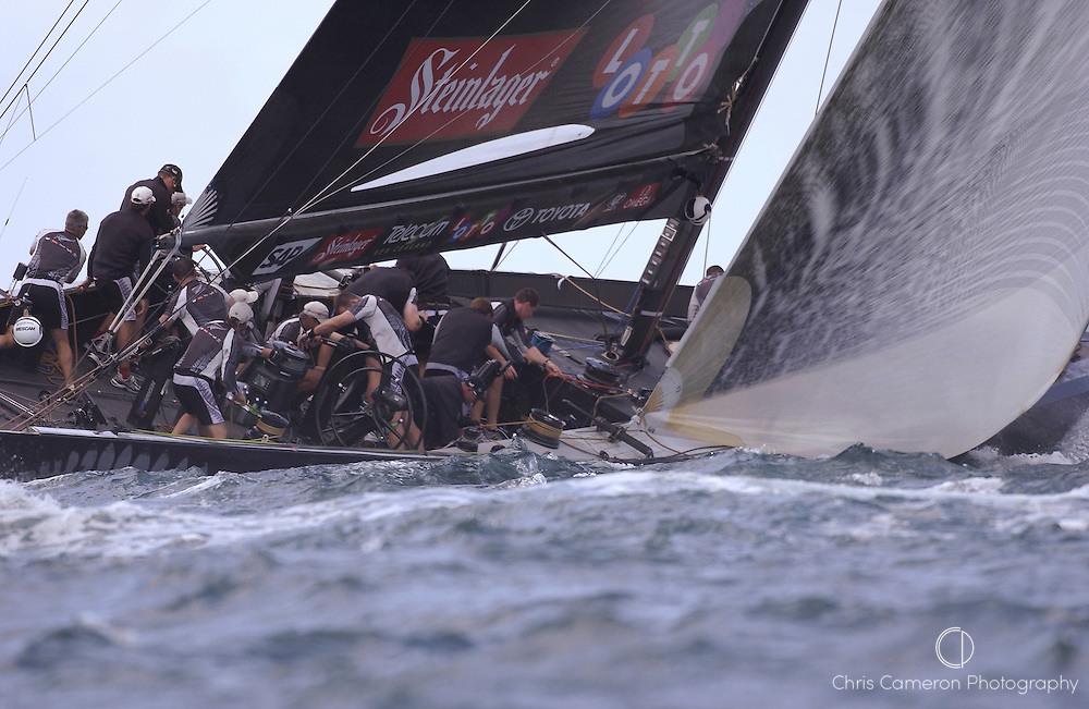 NZL 82 powered up to windward in race three of the America's Cup 2003. 18/2/2003 (© Chris Cameron 2003)