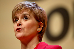 First Minister Nicola Sturgeon speaks during the launch of the SNP General Election manifesto at Perth Concert Hall.