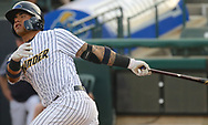 May 19, 2017 - Trenton, New Jersey, U.S - GLEYBER TORRES (center), an infielder for the Trenton Thunder, at bat versus the Portland Sea Dogs at ARM & HAMMER Park. Torres would later hit a grand slam in this game. (Credit Image: © Staton Rabin via ZUMA Wire)