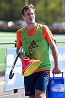 UTRECHT - Jeroen Hertzberger is weer geselecteerd voor de trainingsgroep van Oranje en trainde vanmorgen weer voor het eerst na lange tijd mee. COPYRIGHT KOEN SUYK