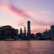 Panoramic view of New York's Skyline at sunset