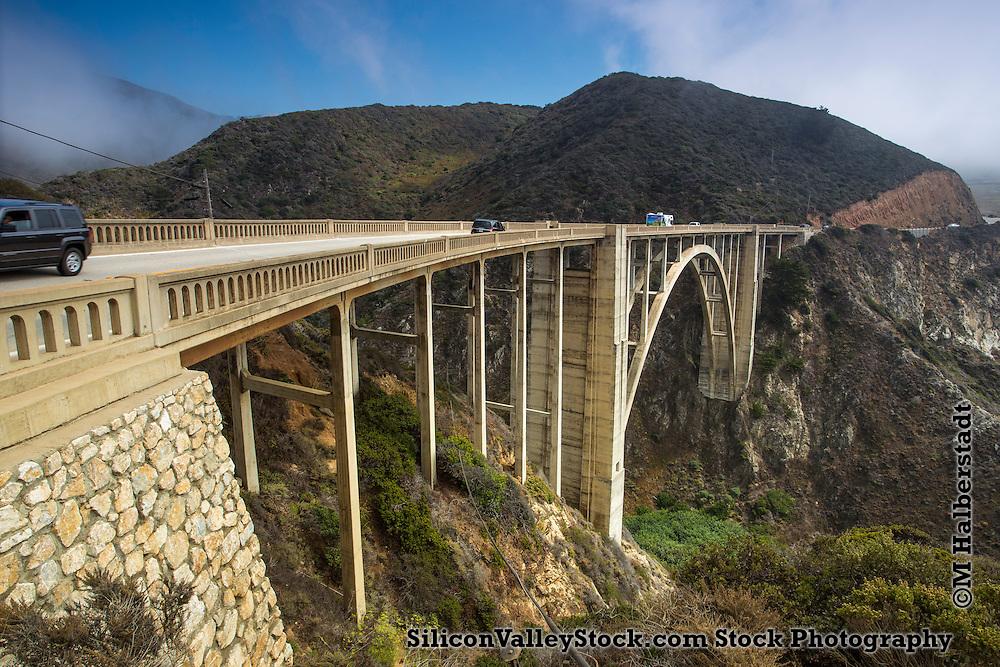 Bixby Creek Bridge, also known as Bixby Bridge, in Big Sur, California