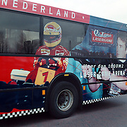 Coronel karting reclame Conexxion bus