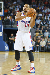 October 29, 2010; Oakland, CA, USA;  Los Angeles Clippers shooting guard Eric Gordon (10) during the first quarter against the Golden State Warriors at Oracle Arena. The Warriors defeated the Clippers 109-91.