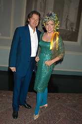 Actress KATRINE BOORMAN and writer DANNY MOYNIHAN at a party hosted by Tatler magazine to celebrate the publication of Lunar park by Bret Easton Ellis held at Home House, 20 Portman Square, London W1 on 5th October 2005.<br /><br />NON EXCLUSIVE - WORLD RIGHTS