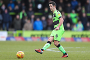 Forest Green Rovers Lloyd James(4) passes the ball forward during the EFL Sky Bet League 2 match between Forest Green Rovers and Notts County at the New Lawn, Forest Green, United Kingdom on 9 February 2019.