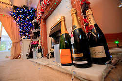 UK ENGLAND WILTSHIRE MELKSHAM 17DEC09 - Living room decoration at Andy Park's house in Melksham, Wiltshire, where the self-proclaimed Mr Christmas celebrates Christmas every day. Mr Park, a 45-year-old divorced electrician, has consumed nearly 118,000 brussel sprouts and about 5000 bottles of Moet champagne since he decided to get into the festive spirit full-time in July 1994...jre/Photo by Jiri Rezac..© Jiri Rezac 2009