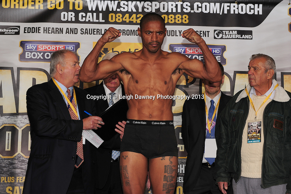 George Groves & Noe Gonzalez Alcoba (pictured) at the Public Weigh In at London Piazza, 02 Arena, London, United Kingdom. 24.05.13. Credit © Leigh Dawney Photography 2013.