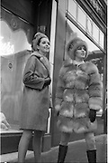 06/02/1968.02/06/1968.06 February 1968.Adrienne Ring, Ballyjamesduff, (right) wearing a Russian Red Fox Mini Fur Coat and matching Cossack hat, by David Vard and Pat Murphy 6 Vernon Grove, Rathgar, wearing a Lakoda Seal Coat trimmed with Pastel Mink and matching hat which will be shown at the W.I.Z.O. 'Preview to Spring' fashion show at the Gresham Hotel, Dublin on Monday next, 12th Feb. 1968.