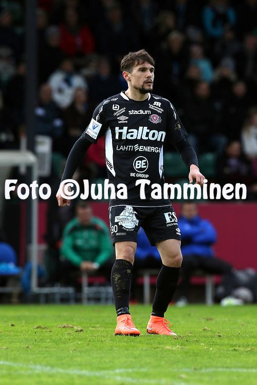18.4.2016, Kisapuisto, Lahti.<br /> Veikkausliiga 2016.<br /> FC Lahti - Helsingfors IFK.<br /> Ivan Solovyov - FC Lahti