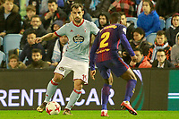 Celta de Vigo's Jonny Castro (l) and FC Barcelona's Nelson Semedo during Spanish Kings Cup match. January 4,2018. (ALTERPHOTOS/Acero)