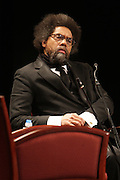 "April 18, 2012- New York, NY : Dr. Cornel West, professor of religion and African-American studies at Princeton University attends the Tavis Smiley and Cornel West Talk and Booksigning of their co-authored new book ' The Rich & the Rest of Us: A Poverty Manifesto ' presented by Dr. Brenda Greene and the National Black Writers Conference held at the Slyvia and Danny Kaye Playhouse at Hunter College (CUNY) on April 20, 2012 in New York City. ..The latest census data shows nearly one in two Americans, or 150 million people, have fallen into poverty  or could be classified as low income. Dr. Cornel West and Tavis Smiley, who continue their efforts to spark a national dialog on the poverty crisis with the new book, ""The Rich and the Rest of Us: A Poverty Manifesto."" (Photo by Terrence Jennings)."
