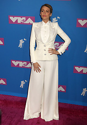 August 20, 2018 - New York City, New York, U.S. - Actress BLAKE LIVELY attends the arrivals for the 2018 MTV 'VMAS' held at Radio City Music Hall. (Credit Image: © Nancy Kaszerman via ZUMA Wire)