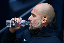 Manchester City manager Pep Guardiola during the FA Cup fourth round match at Etihad Stadium, Manchester.