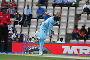 Moeen Ali bowling during the ICC Cricket World Cup 2019 warm up match between England and Australia at the Ageas Bowl, Southampton, United Kingdom on 25 May 2019.