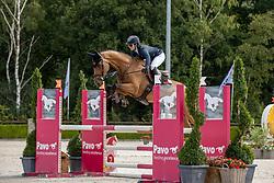 Potter Zoe, NED, Lester CKV<br /> Nationaal Kampioenschap KWPN<br /> 4 jarigen springen final<br /> Stal Tops - Valkenswaard 2020<br /> © Hippo Foto - Dirk Caremans<br /> 19/08/2020