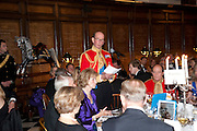 THE DUKE OF KENT, Charity Dinner in aid of Caring for Courage The Royal Scots Dragoon Guards Afganistan Welfare Appeal. In the presence of the Duke of Kent. The Royal Hospital, Chaelsea. London. 20 October 2011. <br /> <br />  , -DO NOT ARCHIVE-© Copyright Photograph by Dafydd Jones. 248 Clapham Rd. London SW9 0PZ. Tel 0207 820 0771. www.dafjones.com.