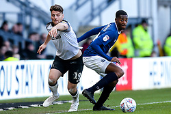 Chris Martin of Derby County takes on Tosin Adarabioyo of Blackburn Rovers - Mandatory by-line: Robbie Stephenson/JMP - 08/03/2020 - FOOTBALL - Pride Park Stadium - Derby, England - Derby County v Blackburn Rovers - Sky Bet Championship