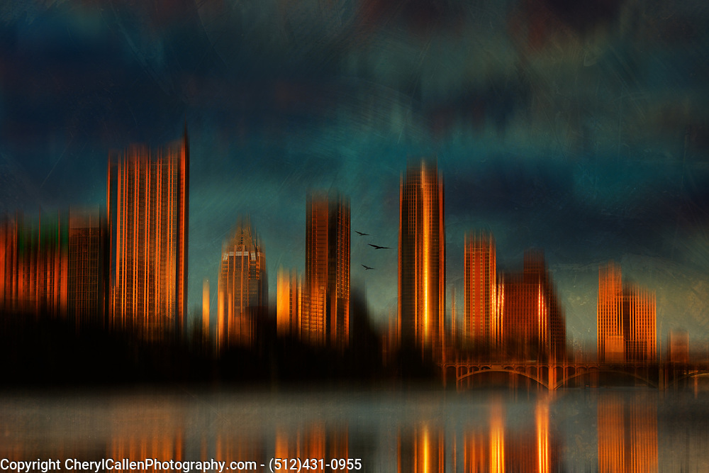 Abstract of Austin,Texas downtown skyline